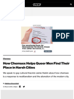How Chemsex Helps Queer Men Find Their Place in Harsh Cities - VICE