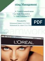 Marketing Case Presentation on Loreal