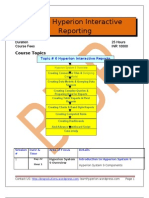 Oracle Interactive Reporting Curriculum