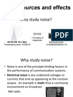 Noise Sources and Effects