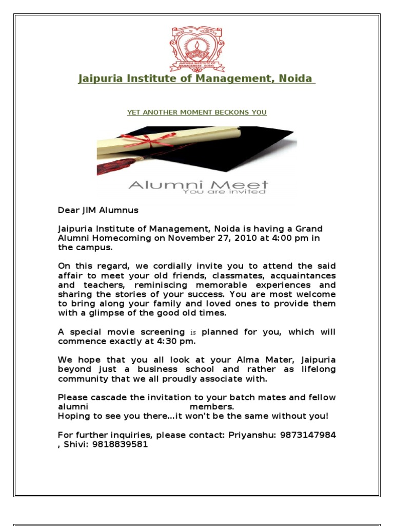 Copy of invitation letter alumni 2 stopboris Choice Image