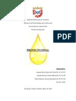 Proyecto Final. Elaboracion de aceite a partir de semillas y hexano