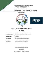 RESUMEN DE LA LEY DE HIDROCARBUROS BOLIVIA