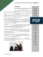 English no longer world language - gap filler story - inter+.pdf