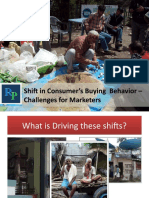 Shift in Consumer's Buying  Behavior – Challenges for Marketers 10
