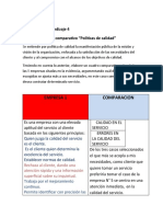 ACTIVIDAD N° 4 CUADRO COMPARATIVO  POLITICAS DE CALIDAD.