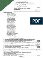 Romana.Info.Ro.2745 Testul 3  antrenament - Limba romana - Evaluarea Nationala 2020-1.pdf
