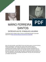Mário Ferreira dos Santos - Entrevista ao Pe. Stanislavs Ladusãns (transcrição)