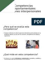 Competencias comportamentales relaciones interpersonales