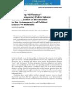 La contribución de internet a la heterogeneidad de la discusión política en redes sociales