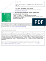 impedance analisys of polymer film electrodes