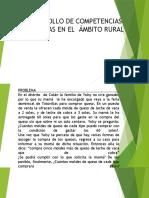 DESARROLLO DE COMPETENCIAS  MATEMÁTICAS EN EL  ÁMBITO RURAL