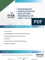 PROGRAMA DE MASIFICACION DE GAS NATURAL RESIDENCIALEN LIMA Y CALLAO FISE AGOSTO 2016 FONDO INCLUSION SOCIAL ENERGETICO
