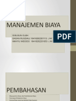 PPT Manajemen Biaya Kelompok 2