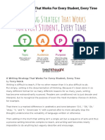 A Writing Strategy That Works For Every Student