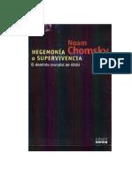 HEGEMONIA O SUPERVIVENCIA- NOAM CHOMSKY