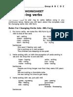 E2 - AE2 - A1 - ing forming grammar