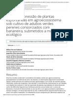 13605 - Supressão de plantas espontâneas em agroecossistema sob cultivo de adubos verdes perenes consorciados com bananeira, submetidos a manejo ecológico _ Cadernos de Agroecologia