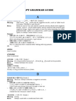 36466776 JLPT Grammar Index