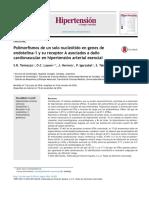 Polimorfismos de un solo nucleótido en genes de endotelina-1 y su receptor A asociados a daño cardiovascular en hipertensión