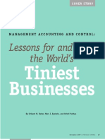 Accounting & Control (Learning From Tiniest Businesses)