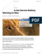 3 Ways to Fix the Service Battery Warning on Mac - Make Tech Easier