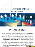Interests of small investors