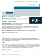 Bank Reconciliation Statement - Definition, Explanation, Example and Causes of Difference _ Accounting for Management