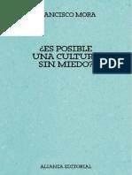 Es posible una cultura sin miedo - Francisco Mora Teruel
