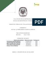 Formulación y evaluación de proyectos segunda parte