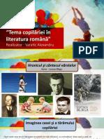 """""""Tema copilăriei în literatura română"""" v23"""