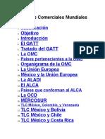 TRATADOS DE LIBRE COMERCIO MUNDIALES