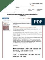 Pronunciar INGLES como un nativo, en minutos!! - 2ª Edición - ForoCoches