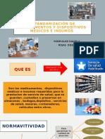 Estandarización de medicamentos y dispositivos médicos e insumos