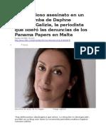 BBC MUNDO - El asesinato en carro bomba de Daphne Caruana, la periodista que lideró las denuncias de los Panama Papers en Malta.docx