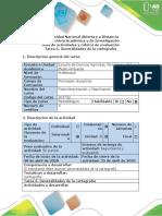 Guía de actividades y rúbrica de evaluación - Tarea 6 - Generalidades de la cartografía (1)