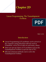 Introduction to LP - Transshipment Problem