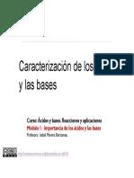 1-2 CARACTERIZACION DE  LOS ACIDOS Y LAS BASES
