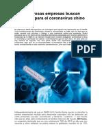 Numerosas Empresas Buscan Vacunas Para El Coronavirus Chino