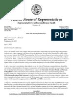 Student housing letter to Gov. Ron DeSantis