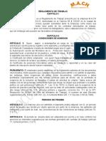 ANEXO 4. REGLAMENTO DE TRABAJO