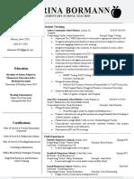 teaching job resume