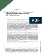 Organización política local y entrelazamientos transregionales del comercio ambulante en la Ciudad de México