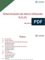 Determinacion de Hierro Utilizando K2Cr2O7