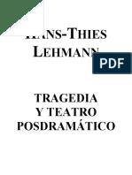 TRAGEDIA Y TEATRO POSDRAMÁTICO [HANS-THIES LEHMANN]
