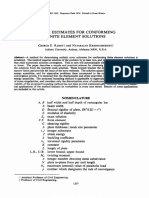Error estimates for conforming finite element solutions
