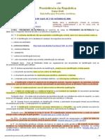L12037 - Identificação Criminal