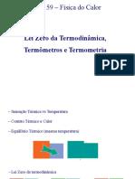 Aula02 - TERMODINÂMICA LEI ZERO USP