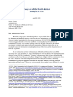 2020.04.09 Letter to CMS Re COVID Demographic Data
