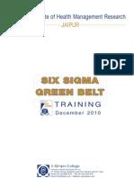 Six Sigma Green Belt Training Handout_IIHMR